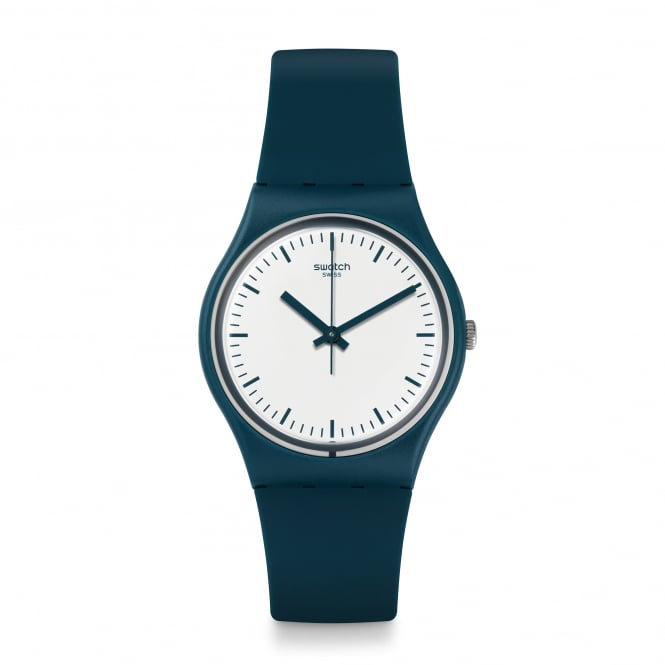 Swatch GG222 Petroleuse White & Green Silicone Watch