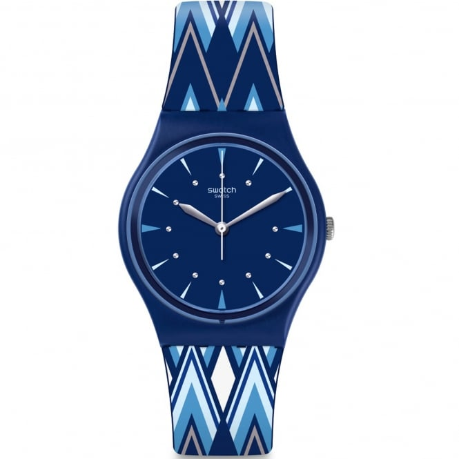 Swatch GN250 Pikabloo Blue Silicone Watch
