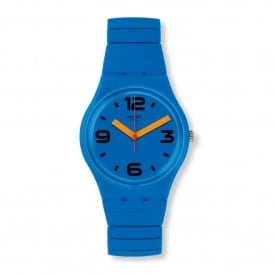 GN251A Pepeblu Blue Rubber & Stainless Steel Expander Watch