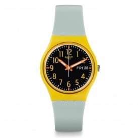 Swatch GO702 Hamarace Yellow & Light Green Silicone Watch