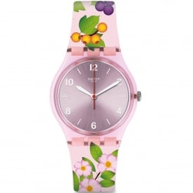 GP150 Merry Berry Pink Floral Silicone Watch