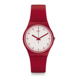 GR172 Puntarossa White & Red Silicone Watch