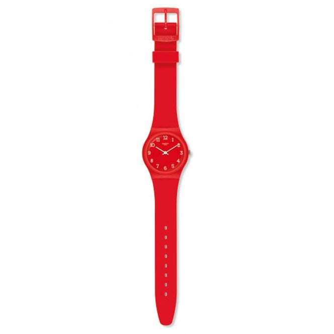 Swatch GR175 Sunetty Red Silicone Watch