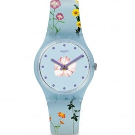 GS152 Pistillo Blue Floral Silicone Watch