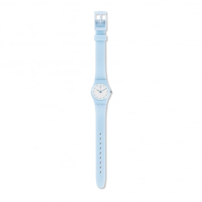 Swatch LL119 Clearsky White & Blue Silicone Watch