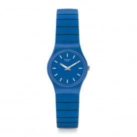 LN155B Flexiblu Blue Rubber & Stainless Steel Expander Watch