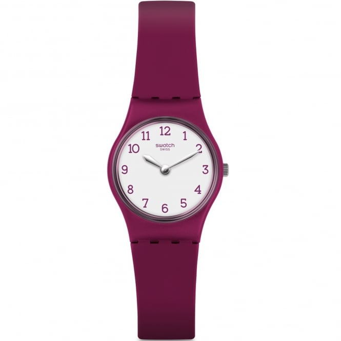 Swatch LR130 Redbelle White & Red Silicone Watch