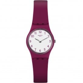 LR130 Redbelle White & Red Silicone Watch