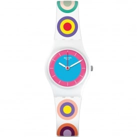 LW153 Girling Multi Coloured & White Silicone Watch