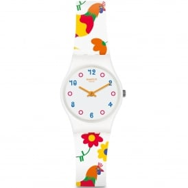 LW154 Polletto White Silicone Watch