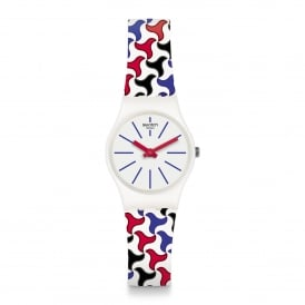 LW156 Pattu White Patterned Silicone Watch
