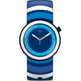 PNN104 Popsplash White & Blue Stripe Silicone Watch