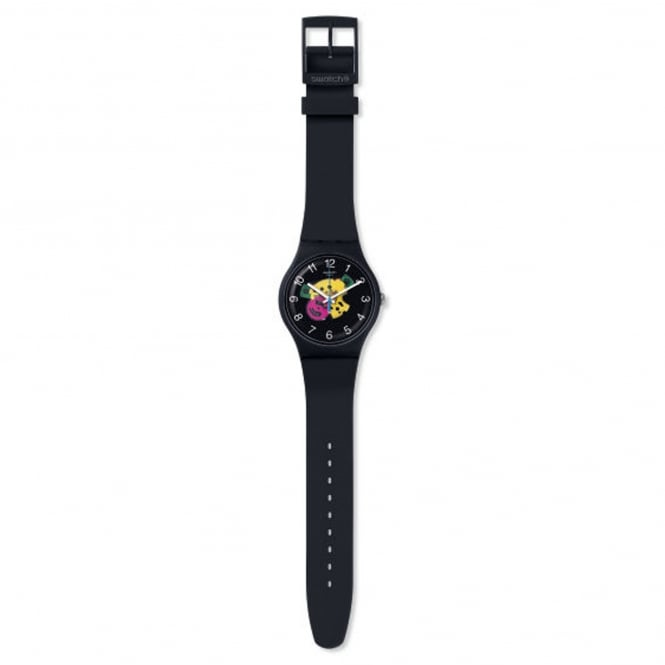 Swatch SUOB140 Patchwork Black Silicone Watch