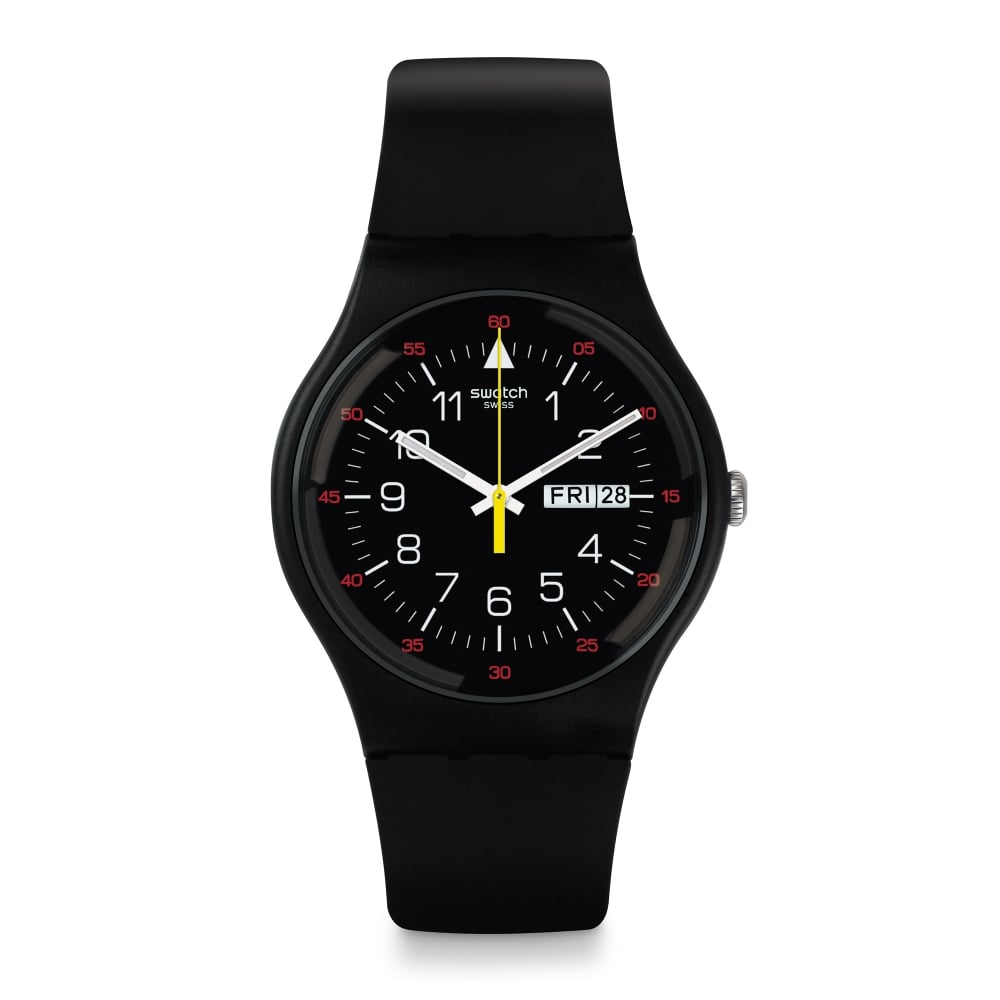 swatch suob724 yokorace black silicone available at