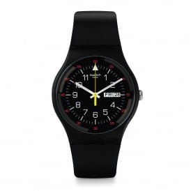 SUOB724 Yokorace Red & Black Silicone Watch