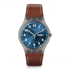 SUOK709 Vent Brulant Brown Leather Watch