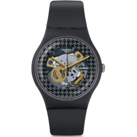 SUOM109 Greybolino Grey Skeleton Dial Silicone Watch