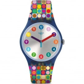 SUON122 Rounds and Squares Multi Coloured Silicone Watch