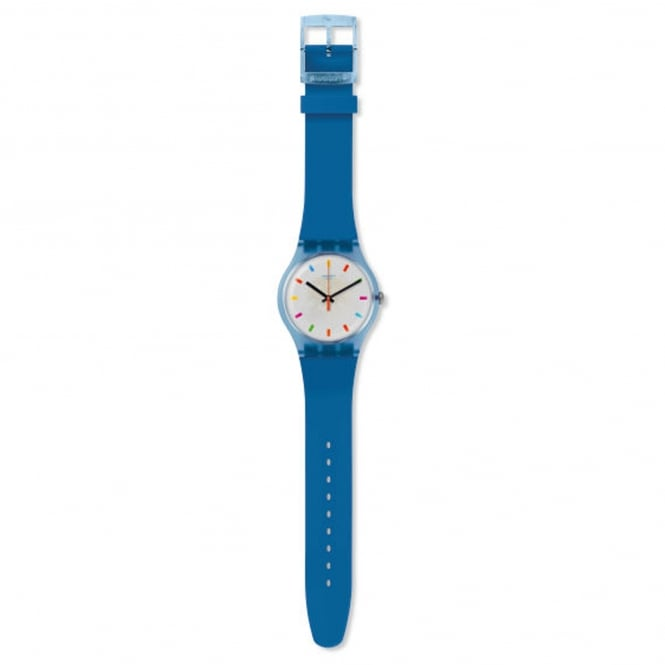Swatch SUON125 Color Square Blue Silicone Watch