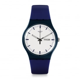 SUON709 Bellablu White & Blue Silicone Watch