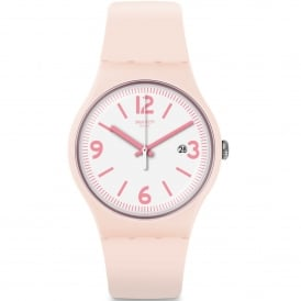 SUOP400 English Rose White & Pink Silicone Watch