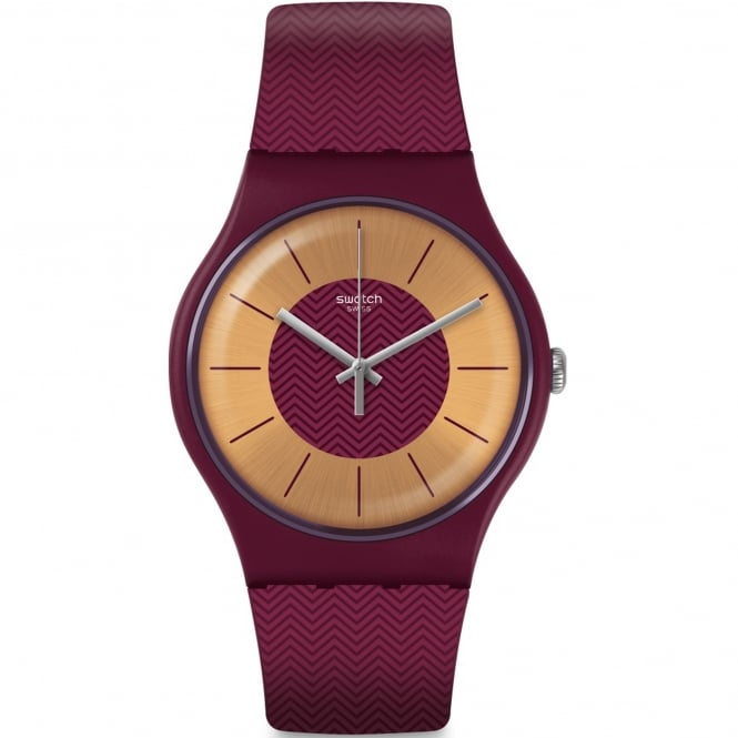 Swatch SUOR110 Bord D'eau Red Silicone Watch