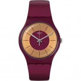 SUOR110 Bord D'eau Red Silicone Watch