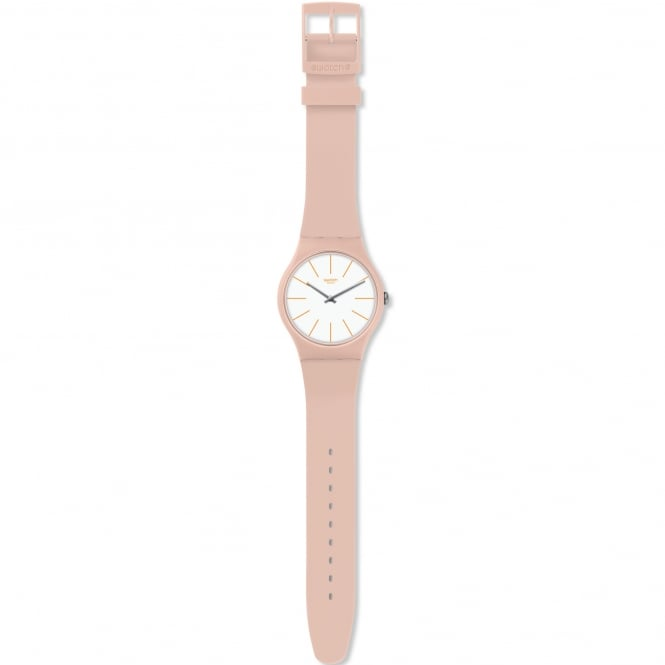 Swatch SUOT102 Beigesounds Nude Silicone Watch