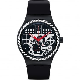 SUTB404 Sistem Schwiiz Red & Black Silicone Automatic Watch