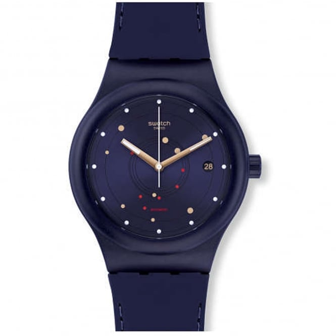 Swatch SUTN403 Sistem Sea Navy Blue Silicone Automatic Watch