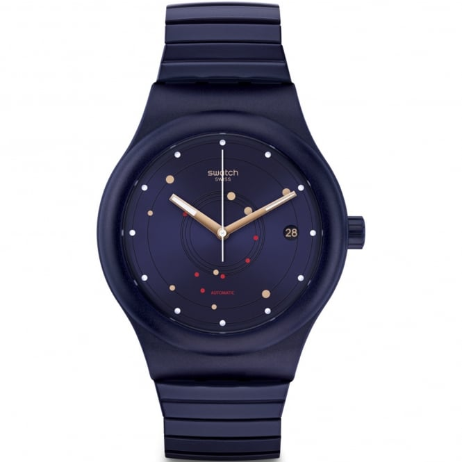 Swatch SUTN403A Sistem Sea Flex Navy Blue Stainless Steel Automatic Watch
