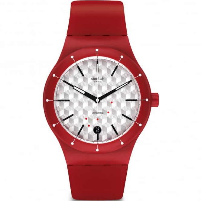 Swatch SUTR403 Sistem Corrida Red Silicone Automatic Watch