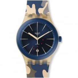 Swatch SUTT400 Sistem 51 Incognito Camouflage Print Automatic Watch