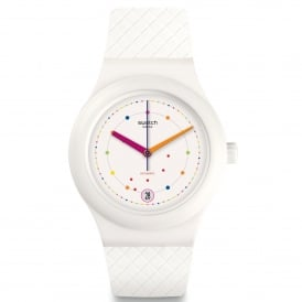 SUTW403 Sistem Polka White Silicone Automatic Watch