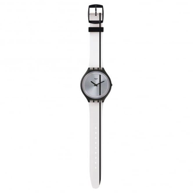 Swatch SVUB102 Skinthrough Black & Transparent Silicone Watch