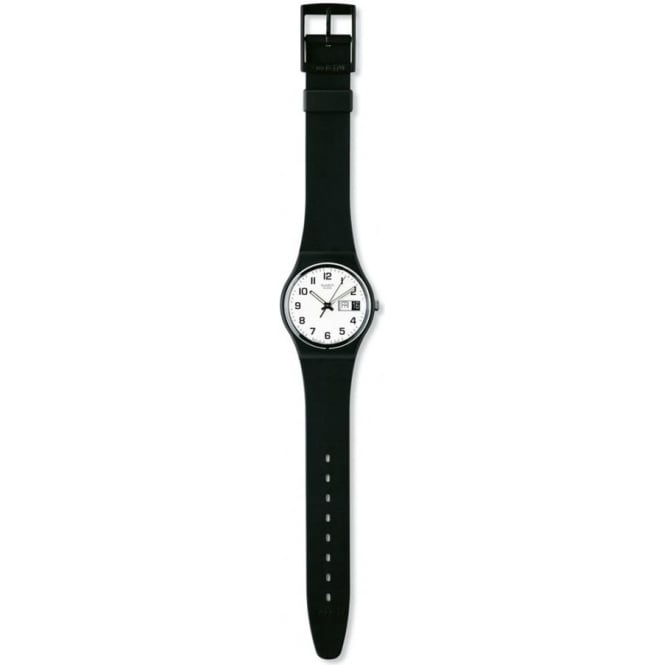 shop unisex plastic again black product watches once from swiss strap swatch details watch fpx