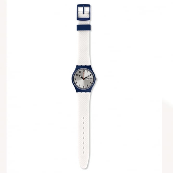 Swatch Swatch GN720 White Delight White & Navy Blue Watch