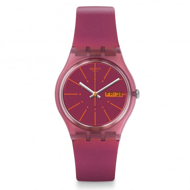 Swatch Swatch GP701 Sneaky Peaky Two Tone Silicone Watch