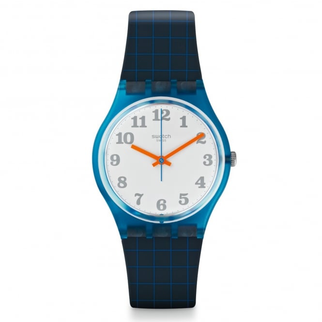Swatch Swatch GS149 Back To School Orange & Blue Silicone Watch