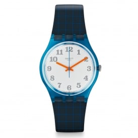 Swatch GS149 Back To School Orange & Blue Silicone Watch