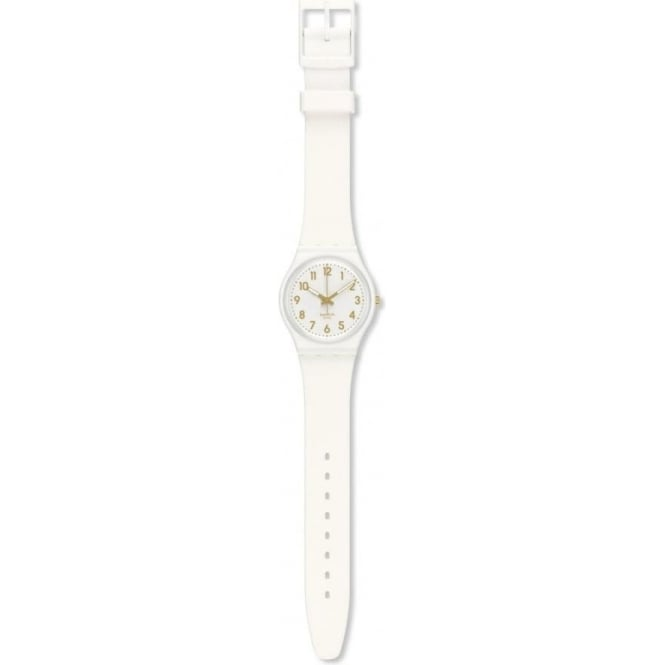 Swatch Swatch GW164 White Bishop White and Gold Watch
