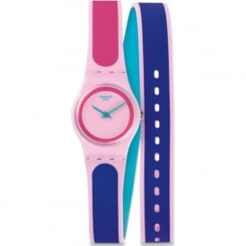 Swatch LP140 Kauai Double Wrap Silicon Watch