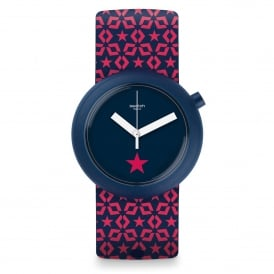 Swatch PNN100 Lillapop Pink & Blue Silicone Pop Watch