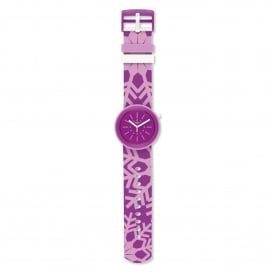 Swatch PNP102 Flocpop Purple Silicone Pop Watch