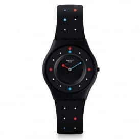Swatch SFB146 Paleo Colour Dot & Black Silicone Skin Watch