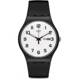 Swatch SUOB705 Twice Again Black & White Watch