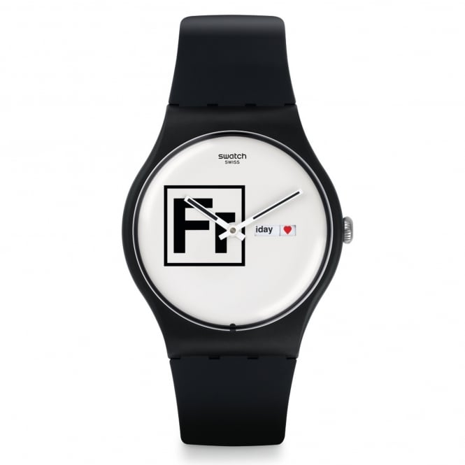 Swatch Swatch SUOB722 Fritz White & Black Silicone Watch
