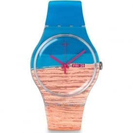 Swatch SUOK706 Blue Pine Printed Silicon Watch