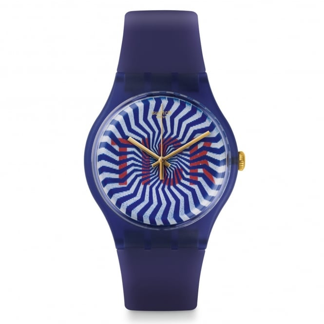Swatch Swatch SUON119 TI-OCK Purple Silicone Watch