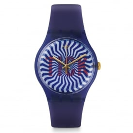 Swatch SUON119 TI-OCK Purple Silicone Watch